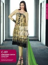 GUL AHMED SUMMER 2014 EMBROIDERED CHIFFON LAWN C89 STOCK MANY DESIGNER SUITS