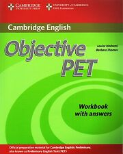 CAMBRIDGE Objective PET PRELIMINARY ENGLISH TEST Workbook with Answers @NEW@