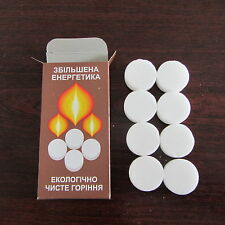 Hexamine Solid Fuel Tablets Dry Alcohol For Micro Camping Stove Pack of 8 tabl.#