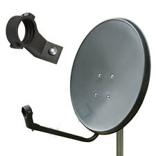 SATELLITE DISH ANTENNA 80CM STAINLESS STEEL GREY ZONE2 SKY HOTBIRT ASTRA