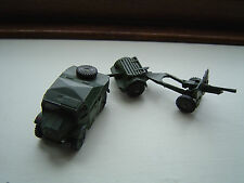 DINKY TOYS 697 FIELD 25 POUNDER GUN SET JOB LOT ANTIQUE ARMY MILITARY VINTAGE