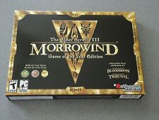Elder Scrolls III: Morrowind -- Game of the Year Edition PC 2003 Windows NEW