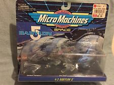 BABYLON 5 1994 MICRO MACHINES #3 SET by GALOOB NIP TOY AND GAME SALE NOW!