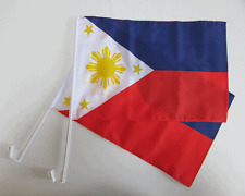PHILIPPINES CAR WINDOW FLAG - 2 PACK NEW