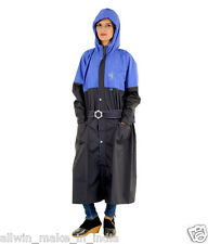ALLWIN Womens Raincoat Rainsuit Over Coat With Long Space Coat P-141A_BLACK_48