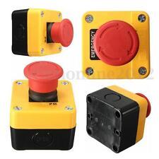 600V 10A Interrupteur Bouton Poussoir Arrêt d'Urgence STOP Emergency Switch Red