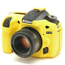 EasyCover Pro Piel de silicona caso de armadura de cámara para adaptarse a Nikon D7100 & D7200 Amarillo