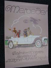 Poster Mercedes Daimler-Motoren Gesellschaft Stuttgart-Untertürkheim (JS)