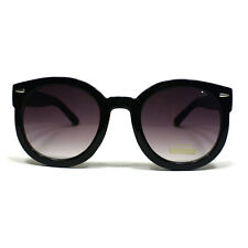 WOMEN'S VINTAGE Sunglasses ROUND CIRCLE Frame Designer Popular Fashion BLACK