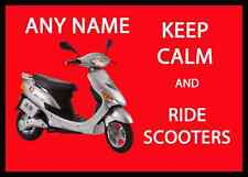 Keep Calm And Ride Scooters Personalised Dinner Table Placemat
