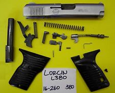 LORCIN L 380 STAINLESS SLIDE, BARREL, GRIP, TRIGGER, ALL 4 ONE PRICE 16-260