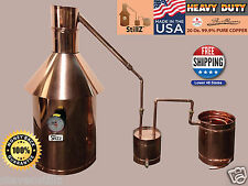 10 Gallon - StillZ Heavy Duty Copper Moonshine Still+Thumper+Worm 100% Guarantee