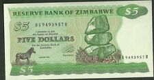 1994 Reserve bank of zimbabwe 5 dollars currency note 2e five paper money africa