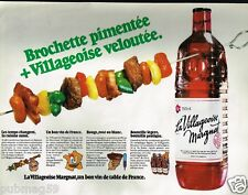 Publicité advertising 1980 Le Vin La Villageoise Margnat