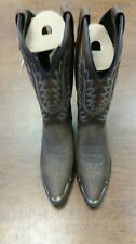361  American West Trading Genuine Leather Ladies Dark Brown Cowboy Boots sz 6 M