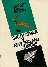 SOUTH AFRICA 1965 RUGBY TOUR PROGRAMME v NEW ZEALAND JUNIORS 14 Jul