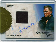 James Bond 007 Autograph & Relic Skyfall Card Costume Card Daniel Craig 6 Case