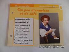 CARTE FICHE PLAISIR DE CHANTER MARIE PAULE BELLE UN PEU D'ANGOISSE ET DE CAFE