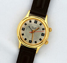 Rare Authentic Mechanical Russian USSR alarm watch POLJOT 18 jewels #234