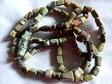 """15 1/2"""" Strand 7-12mm Long Turquoise Cube Shaped Stone Beads A657 DNG"""