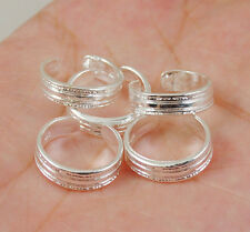 Hot  wholesale lots Screw thread 5PCS 925 sterling silver toe  ring  S010