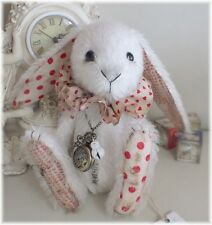 OOAK White Rabbit Pocket Watch ALICE IN WONDERLAND Ragtail n Tickle COA U.K