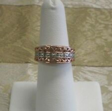Sterling Silver w/ Rose Gold Finish Filigree Ring Size 6.25 Marked Thai FAS