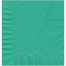 50 Plain Solid Colors Luncheon Dinner Napkins Paper - Teal