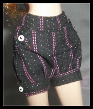 BOTTOM  BARBIE DOLL TOP MODEL MUSE SUMMER PINSTRIPE BLACK & PINK SHORTS PANTS