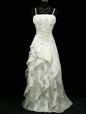 Cherlone Plus Size White Ballgown Bridesmaid Wedding Formal Evening Dress 22-24
