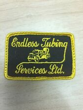 "Vtg Endless Tubing Services 3"" Patch Sew On Transport Trucking Oil Gas Rig Coil"