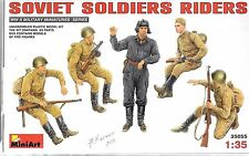 MiniArt WWII Soviet Soldier Riders and One Tanker Figure in 1/35 35055 DO ST