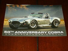 SHELBY 50th ANNIVERSARY COBRA 427 S/C - DOUBLE SIDED SALES SHEET / BROCHURE