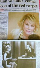 1933-2014 JOAN RIVERS OBITUARY COMIC ICON OF THE RED CARPET COMEDIAN