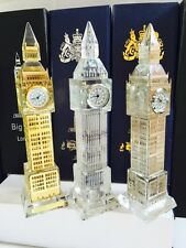 6 X Plain Crystal Glass London Big Ben Clocks In  Gift Boxes