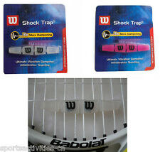 10PCS WIL SON Shock Trap Vibration Dampener Shock Absorbers Tennis Racquet-White