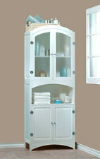 NEW WHITE WOOD LINEN CABINET BATHROOM~LAUNDRY ROOM STORAGE~HOME DECOR~FURNITURE