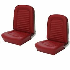1964 &1965 Mustang Fastback Seat Upholstery Red Front & Rear IN STOCK!!