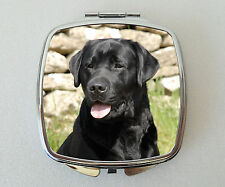 Black Labrador Dog Compact Mirror Handbag Beauty Cosmetic Makeup Valentines