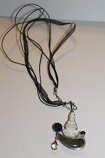 Estate Sterling Silver Vintage Sajen Mother of Pearl Druzy Quartz Necklace