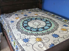 Floral Triple Moon Tapestry,  bedspread, table cloth, wall hanging