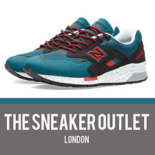 Mens New Balance 1600 DK Elite UK Size 7 Trainers // Teal Black Maroon 998 1500