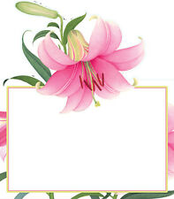 Place Cards for Easter Dinner /Brunch Lillies 16