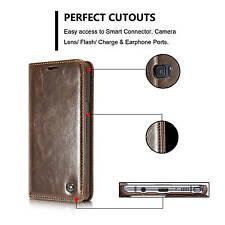 CaseMe Premium Double PU Leather Men Women Wallet Case Cover For Mobile Phones