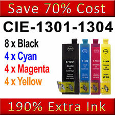4SET4BK Ink Cartridges for Epson Stylus SX525WD SX535WD SX620FW WF-7515 WF-7525