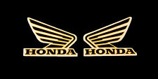 HONDA Tank Sticker 5.5 cm. wing motorcycle tank decal sticker  Black gold Vinyl