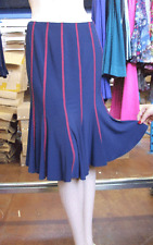 Joseph Ribkoff BNWT UK 10 Glorious Blue & Red Stretch Jersey Crease Free Skirt