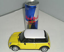 125-002 Cararama Yellow 1:24 Mini Cooper Metal Diecast Model Car New & Boxed