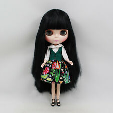 "12"" Neo Blythe Doll from Factory Black Hair Nude Doll JSW68001"