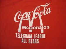 Vintage Coca-Cola McDonald's Telegram League All Stars Number 9 Red T Shirt M